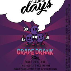 cloudy days grape drank
