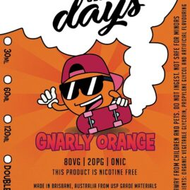 cloudy days gnarly orange