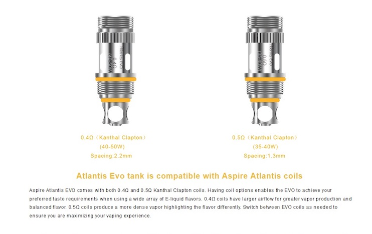 Aspire Atlantis Evo 2ml/4ml Tank Australia