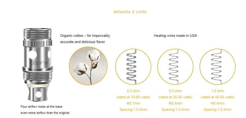 Aspire Atlantis V2 Coils Australia