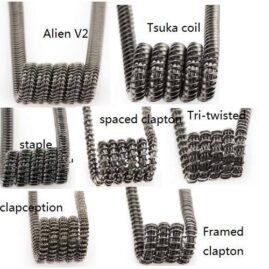 Demon Killer Violence Coils 7 in 1 Australia ,Alien, Alien V2 Coil, Tsuka Coils, Framed Clapton, Staple Staggered, Spaced Clapton, Tri Twisted Clapton, Clapception