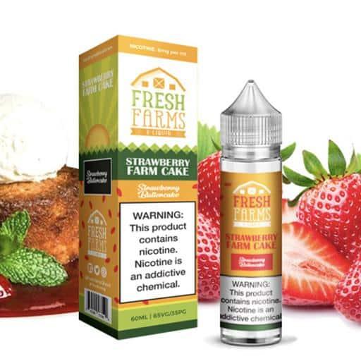 Fresh Farms E Liquid Strawberry Farm Cake Australia AVS