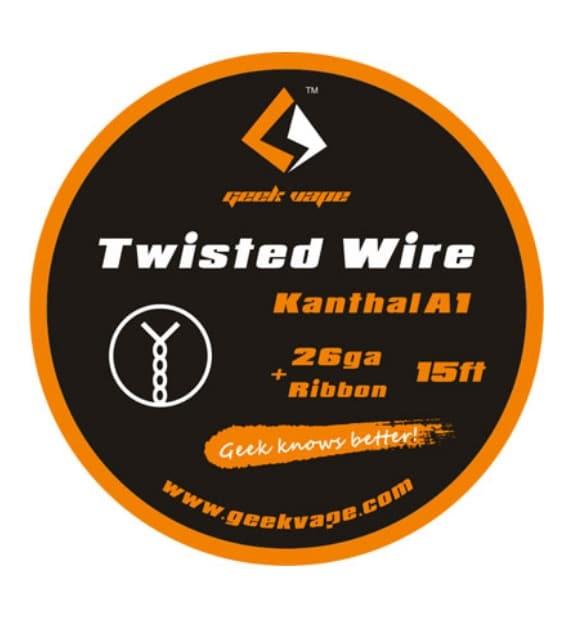 Geekvape Kanthal A1 DIY Twisted Wires 5M 26GA + Ribbon