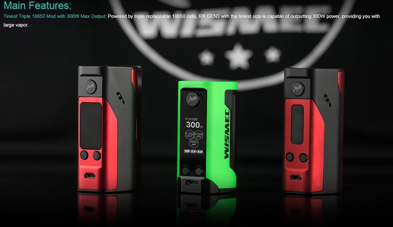 Wismec Reuleaux RX GEN3 300W TC Mod Australia AVS