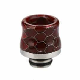 Snakeskin Resin & Stainless Steel 510 Drip Tip Australia AVS Dark Red
