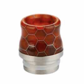 Snakeskin Resin & Stainless Steel 810 Drip Tip Australia AVS Red