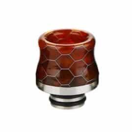 Snakeskin Resin & Stainless Steel 510 Drip Tip Australia AVS Red