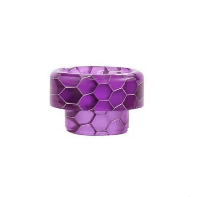 Blitz Snake Skin 810 Short Resin Drip Tip Purple