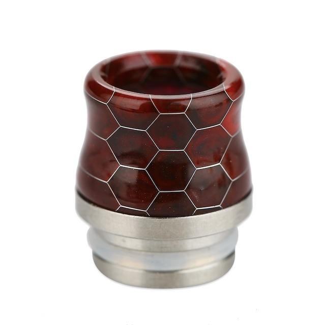 Snakeskin Resin & Stainless Steel 810 Drip Tip Australia AVS Dark Red