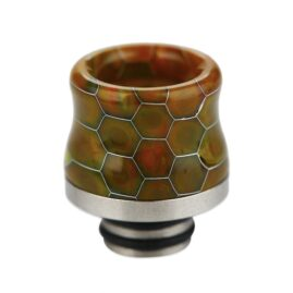 Snakeskin Resin & Stainless Steel 510 Drip Tip Australia AVS Yellow Green