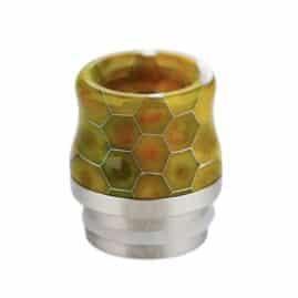 Snakeskin Resin & Stainless Steel 810 Drip Tip Australia AVS Yellow Green