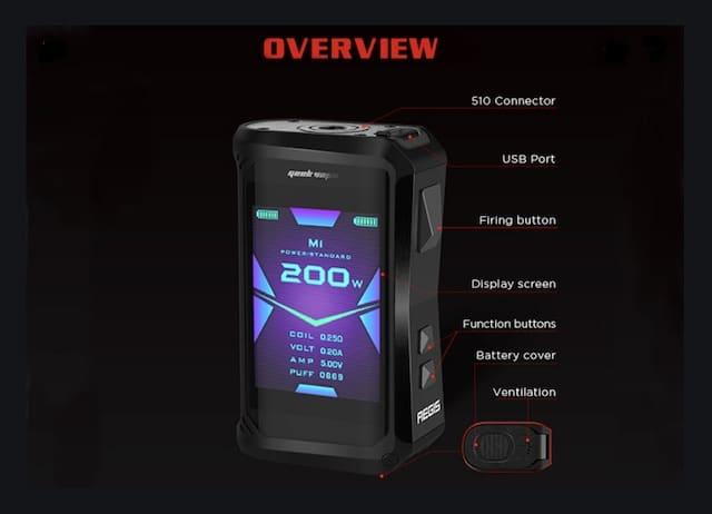 Geekvape Aegis X 200W Box Mod Australia AVS