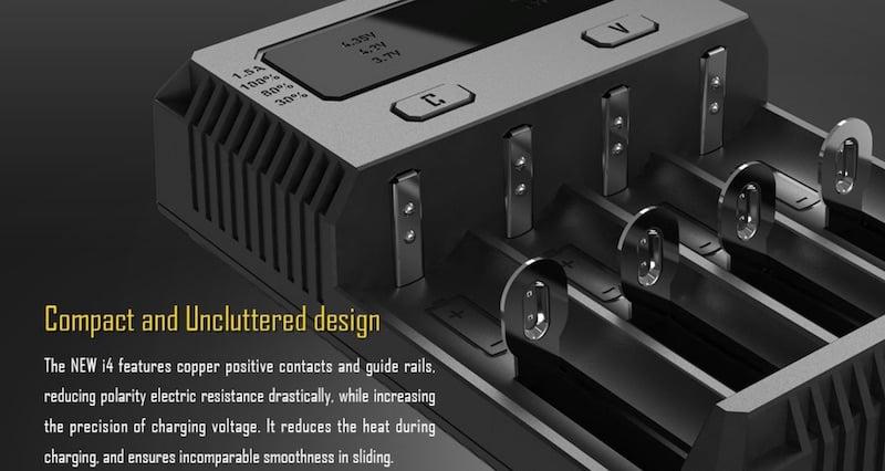 Upgraded Nitecore Intellicharge i4 Australia AVS