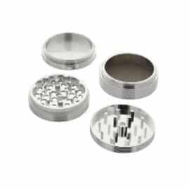 Silver Ripple Aluminium Grinder 60mm - 4 pc.Australia AVS