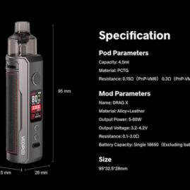 Voopoo Drag X Pnp system Starter Kit Australia