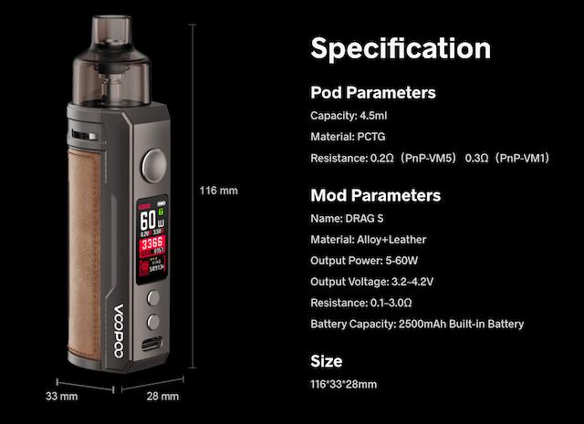 Voopoo Drag S 60W Mod Pod Starter Kit