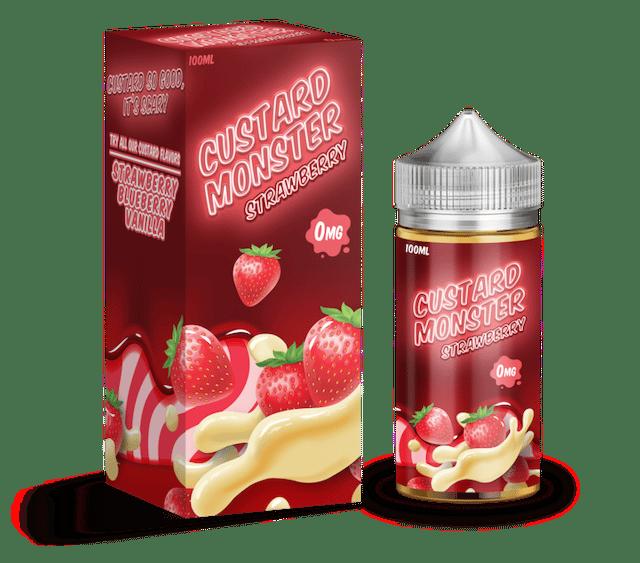Custard Monster Strawberry Ejuice 100ml Australia