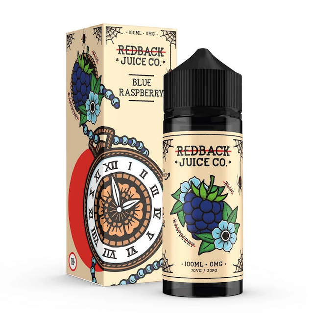 Redback Juice Co.100ml Ejuice Blue Raspberry