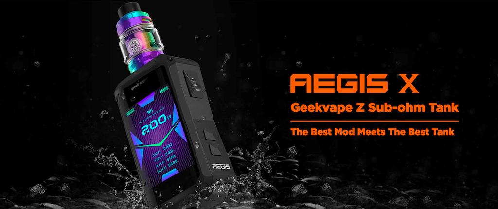 Geekvape Aegis X 200W Box Mod Kit With Z Sub Ohm Tank