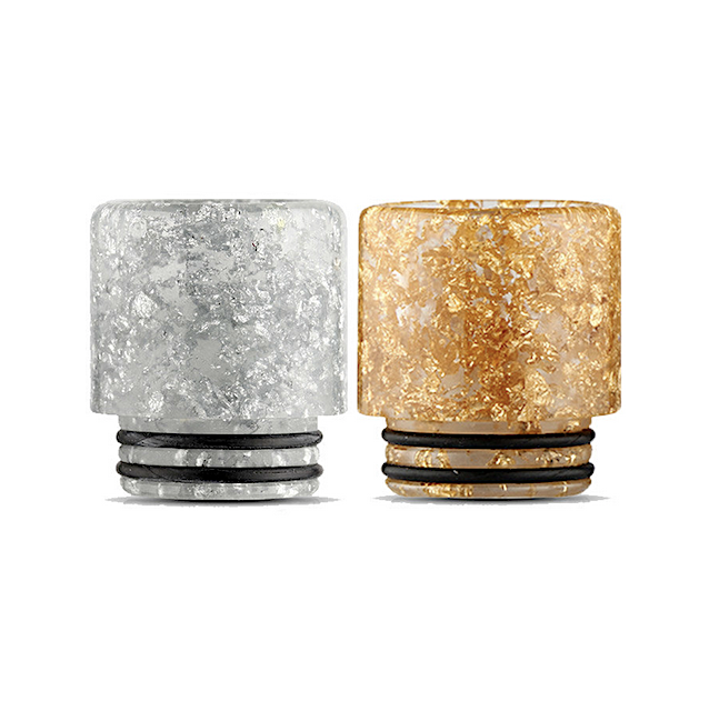 810 Drip Tip Mouth Piece Silver Gold Fleck